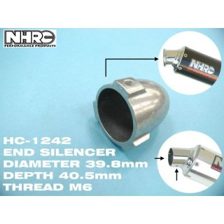 NHRC Silencer 40mm for all Exhausts